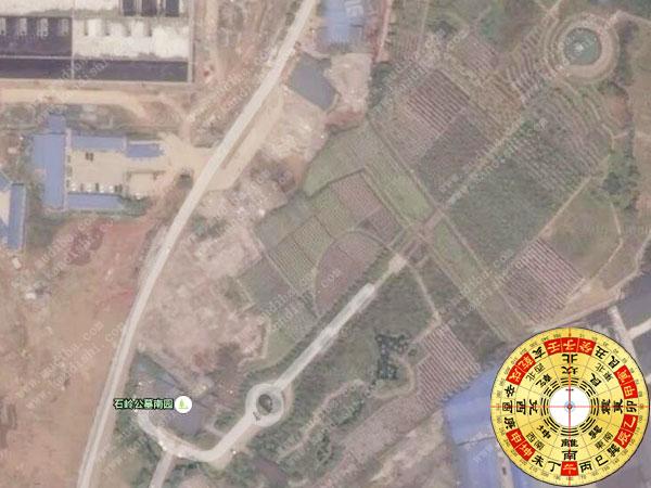 成都公墓卫星图暨成都墓地陵园水口大全